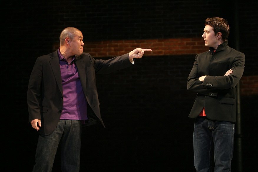 Hoon Lee and Noah Bean. Photo by Michal Daniel for the Public Theatre, 2007