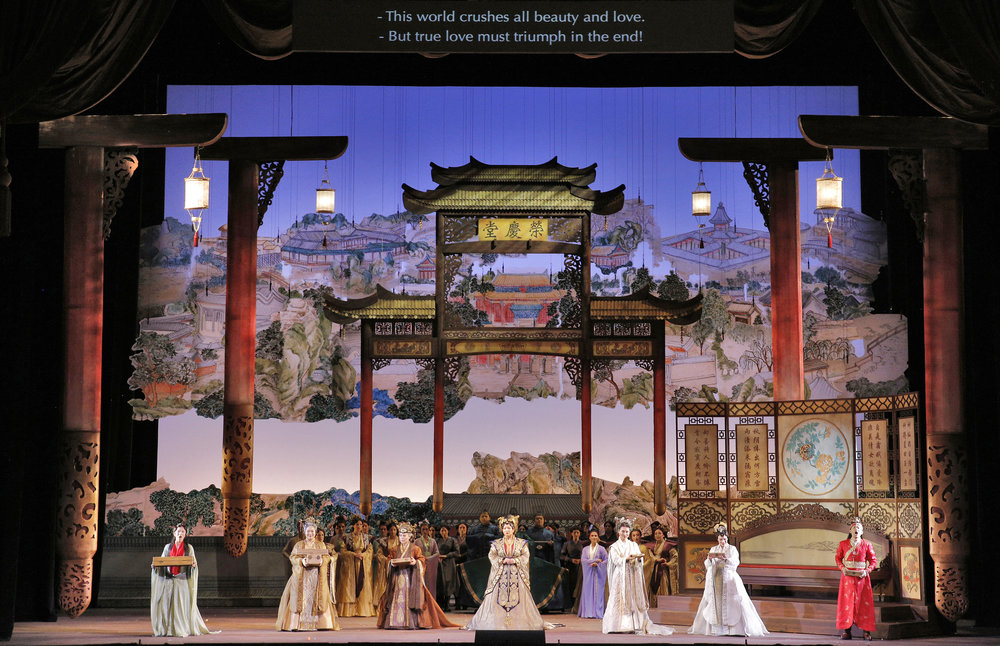 The company of  Dream of the Red Chamber . Photo by Cory Weaver for the San Francisco Opera.