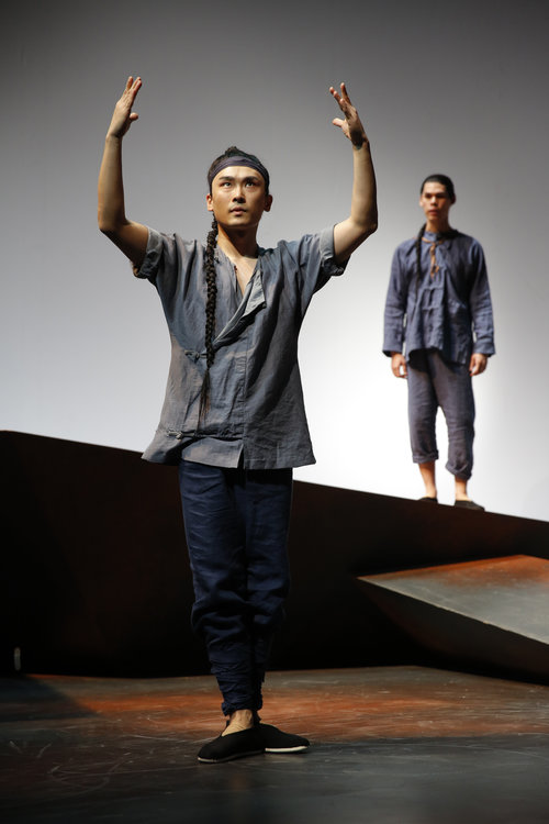 William Yuekun Wu and Ruy Iskandar. Photo by Joan Marcus for  Signature Theatre, 2013