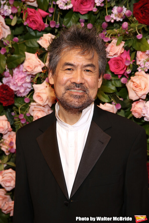 David Henry Hwang on the red carpet.