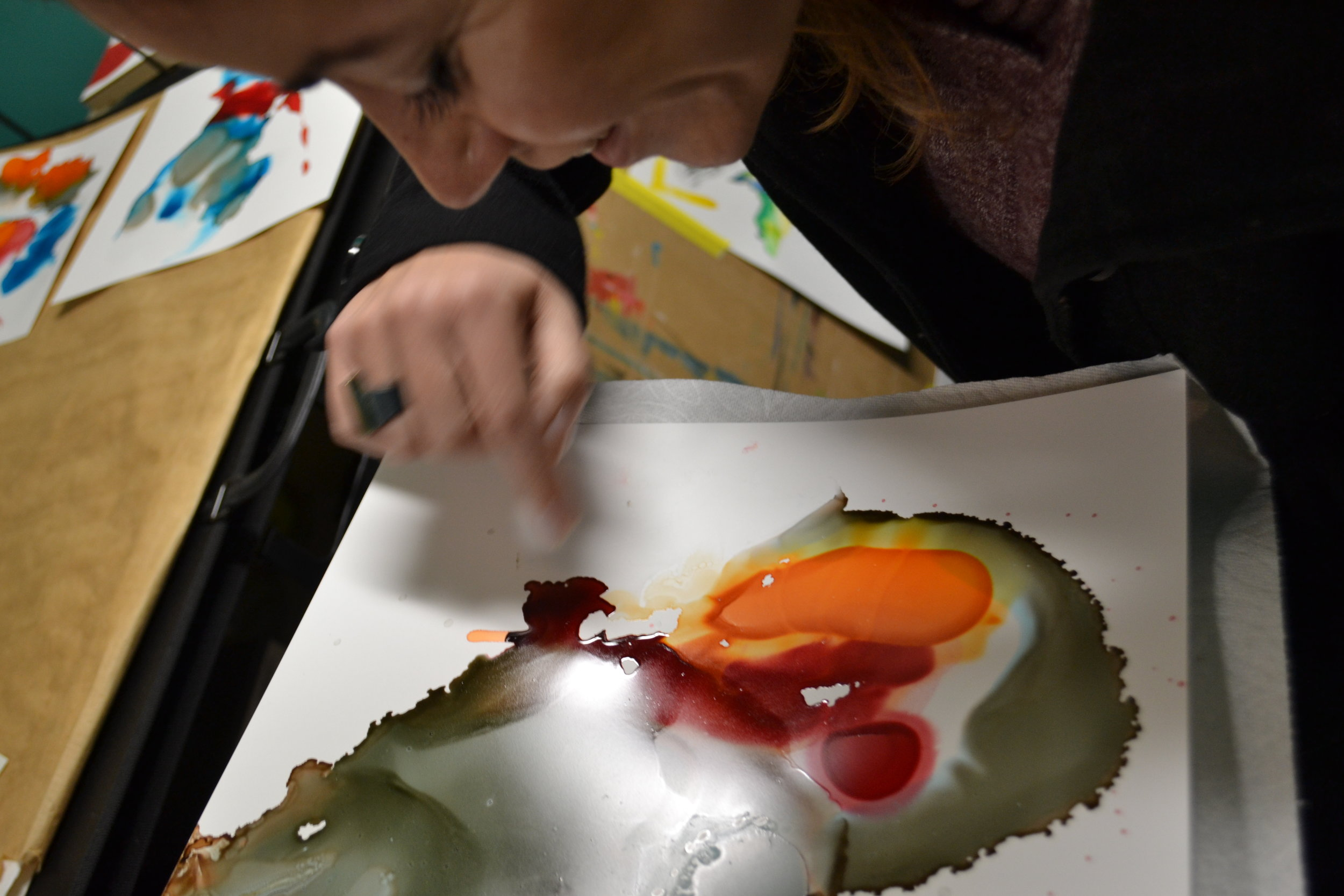 Stain'd Artist Cristina Del Hoyo Painting