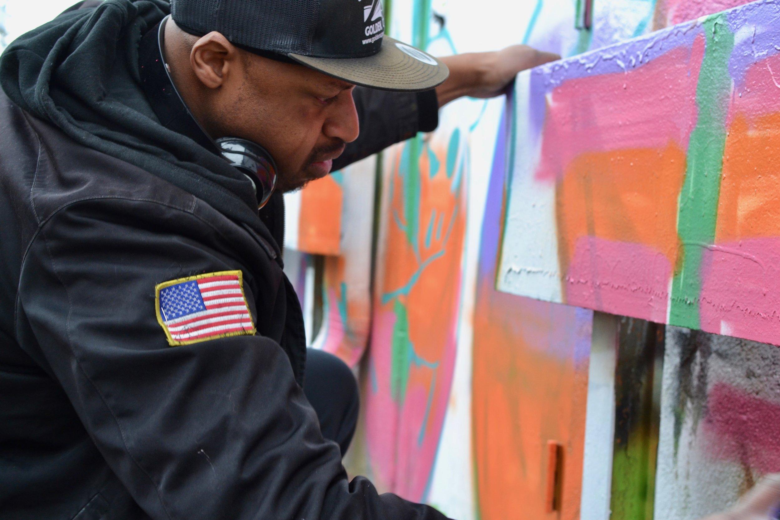 Robert Wright for Stain'd Arts' interview with artist series, denver muralist