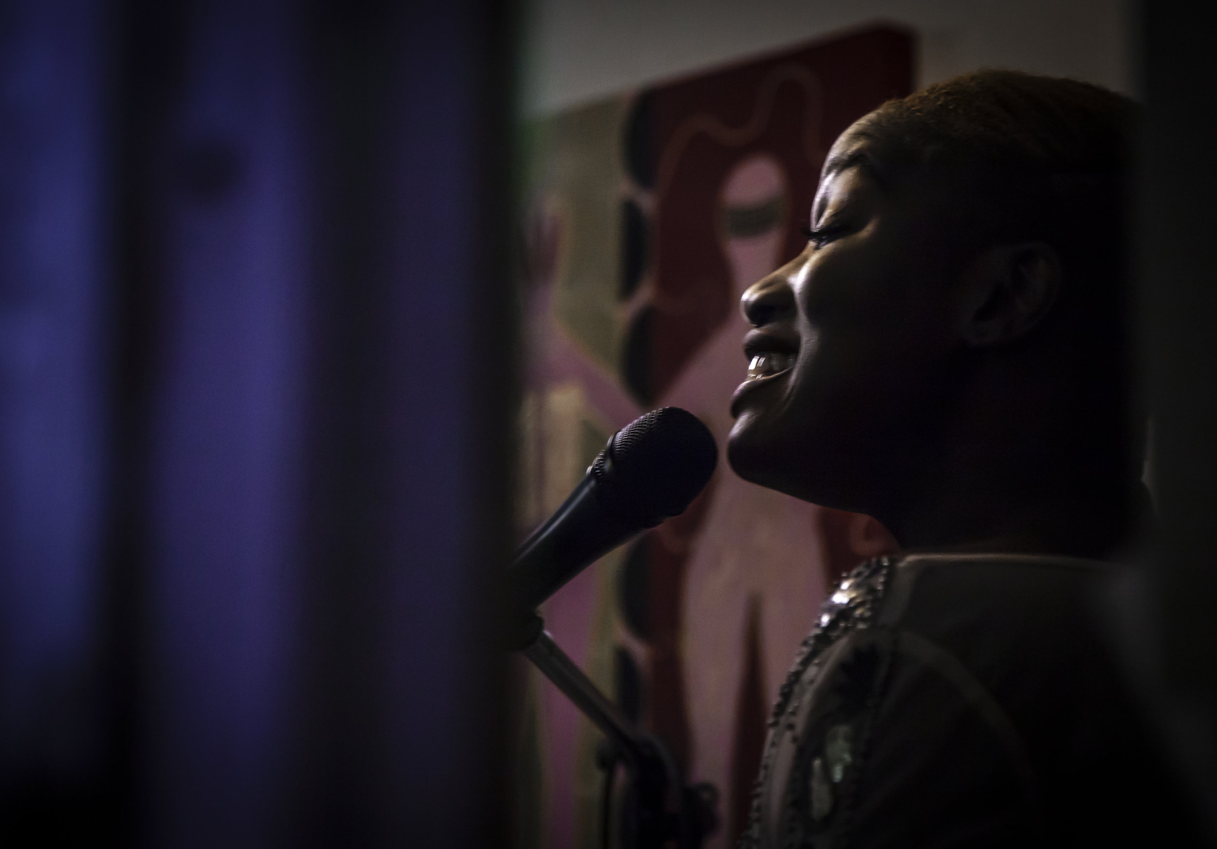 Toluwanimi Obiwole at Stain'd Arts Open Mic Photographer, Hannah Skewes