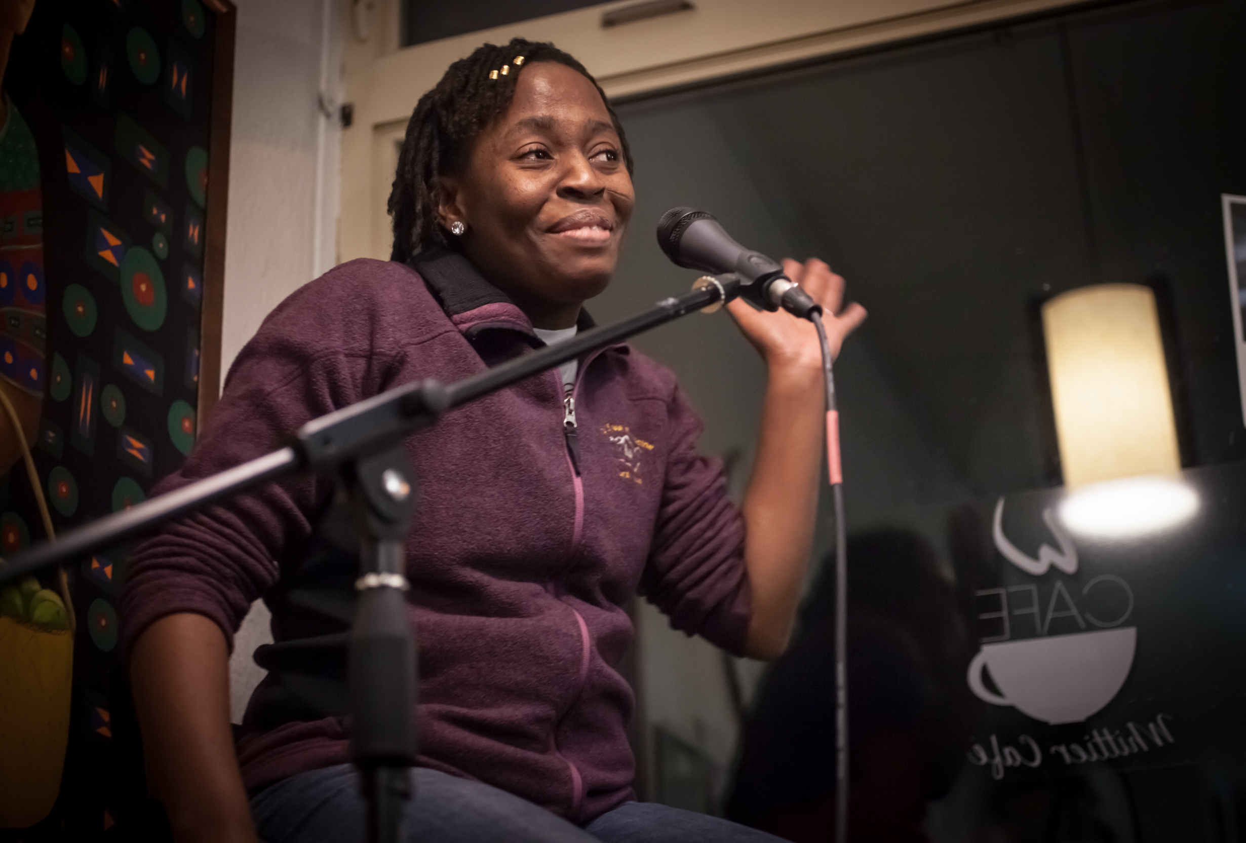 Queenie Kisang at Stain'd Arts Open Mic Photographer, Hannah Skewes