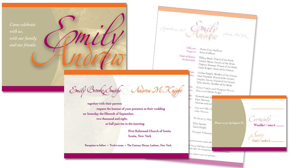 ambersands Rob Stiene wedding invitation design amber Sands Creative Ormond Beach FL