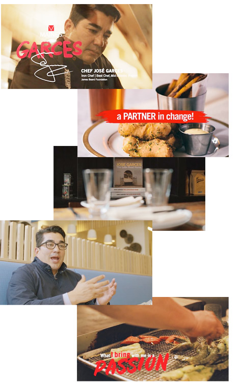 Iron Chef José Garces in a short video directed by amberSands Creative and produced by Novel Studios for the annual Maines Food Show