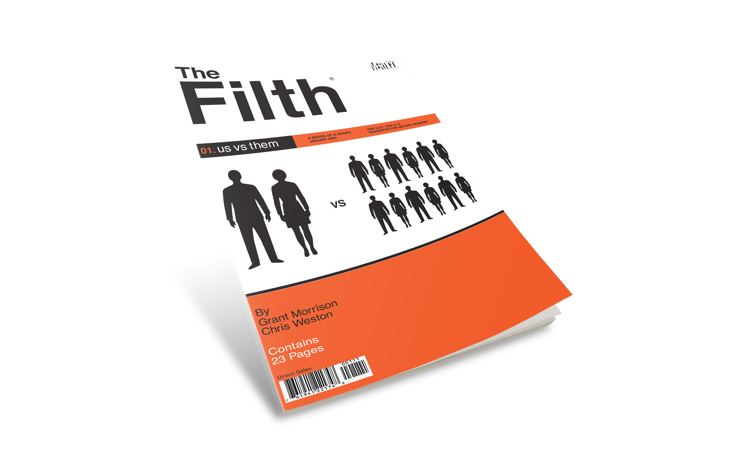 "Filth comic book cover #1. ""Us vs Them""."