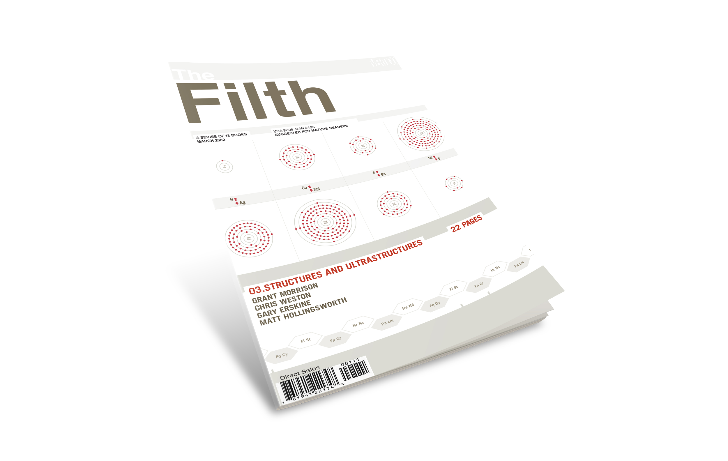 """Filth comic book cover #3. """"Structures and Ultrastructures""""."""