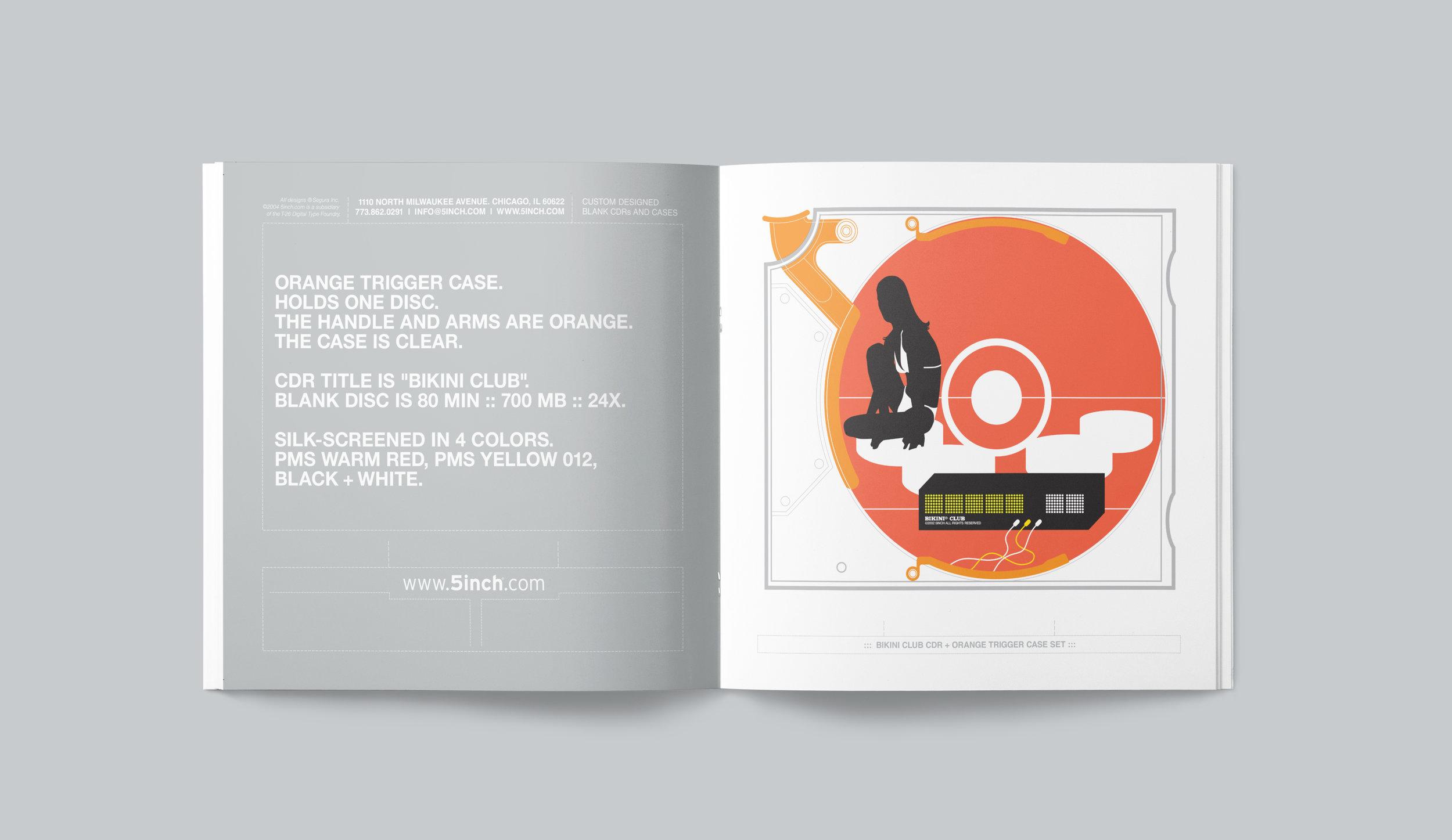 "5inch promotional catalog. ""Bikini Club"" spread."