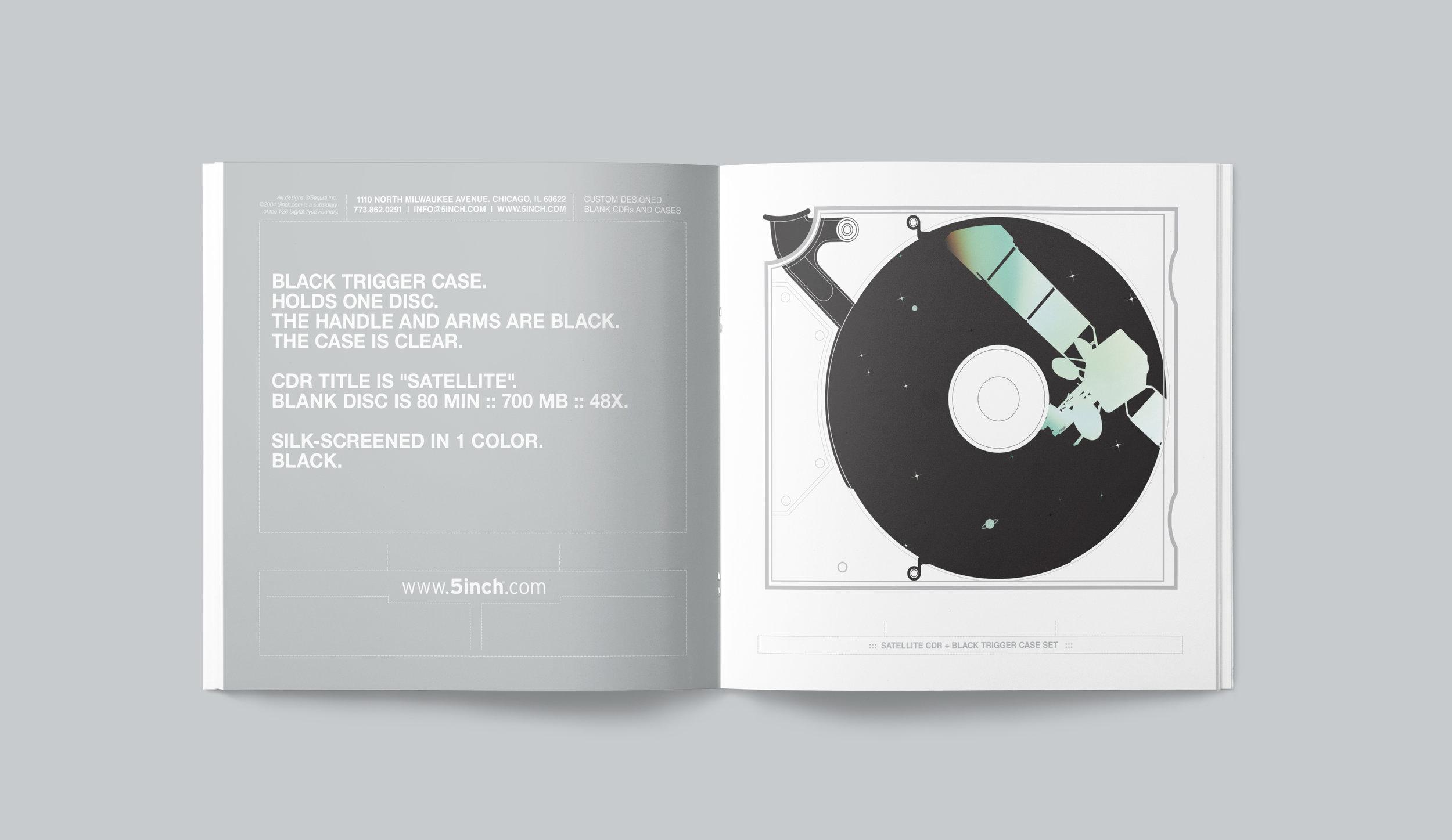 "5inch promotional catalog. ""Satellite"" spread."