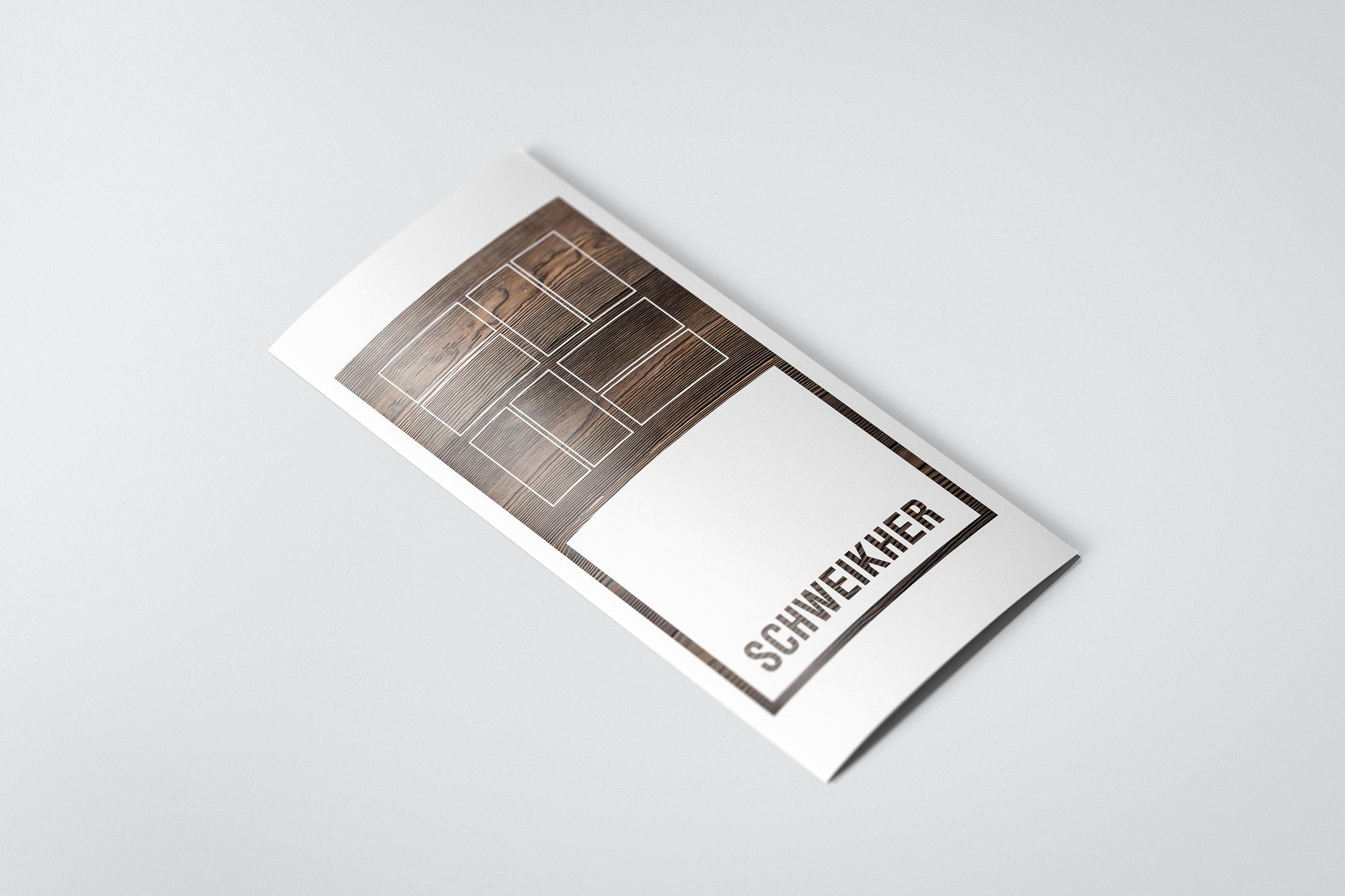 SCHWEIKHER - EXPLORATION #6  - tro-fold brochure cover