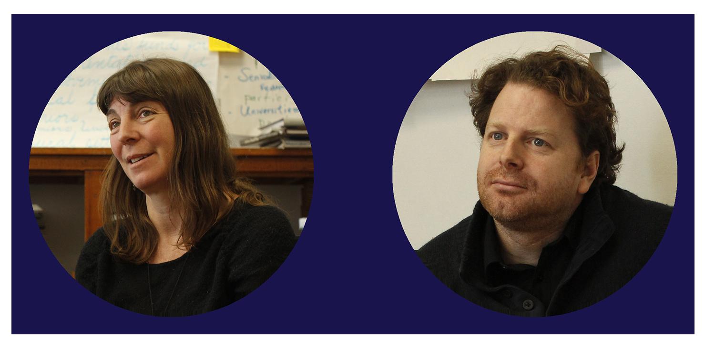 Samantha Slade, à gauche, et Paul Messer, qui travaillent tous deux chez Percolab, ont aidé à animer la séance.