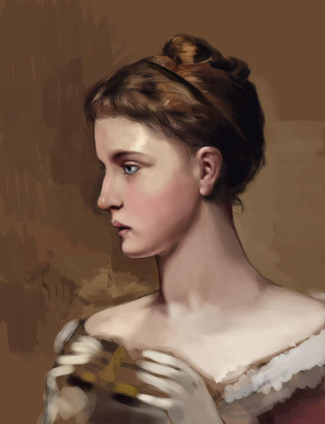 master study of 'At the opera 1887'