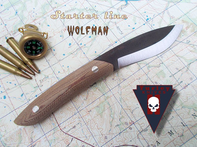 """Wolfman: Blade about 3 1/2"""", handle about 4 1/4"""""""