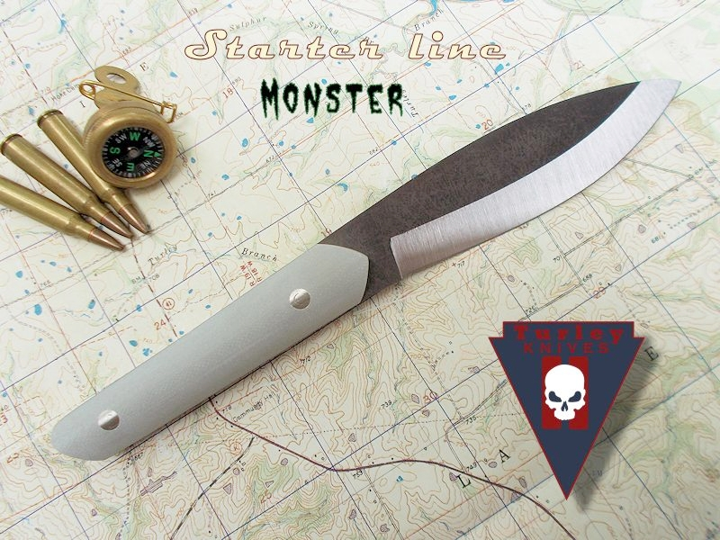 """The Monster (as in Dr. Frankenstein's): Blade about 4 3/4"""", handle about 4 1/2"""""""