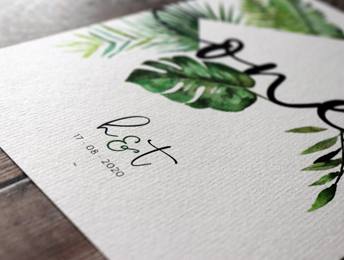 Palm wedding invitation collection