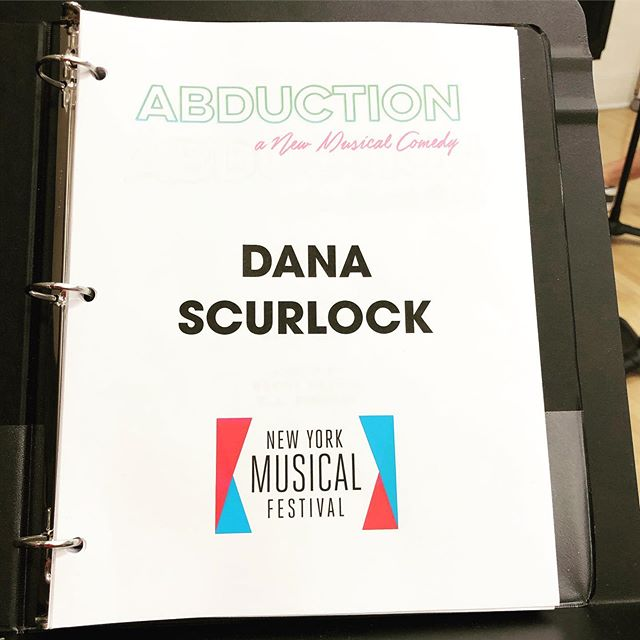"""Somehow, someway I'm in another musical about aliens this year! 👽  Happy to be starting rehearsal today for """"Abduction"""" @newyorkmusicalfestival"""