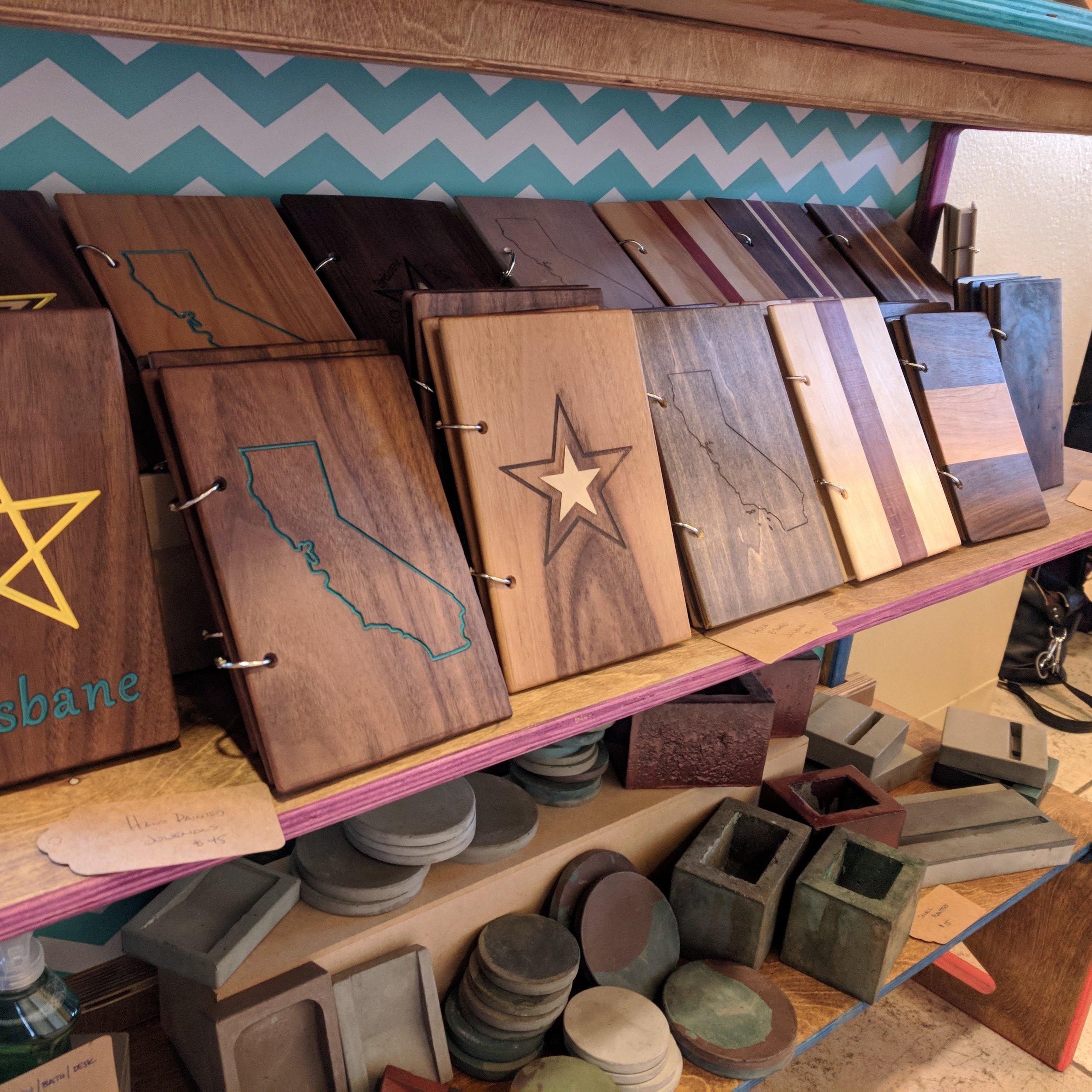 Wood Journals - Refillable wood journals.