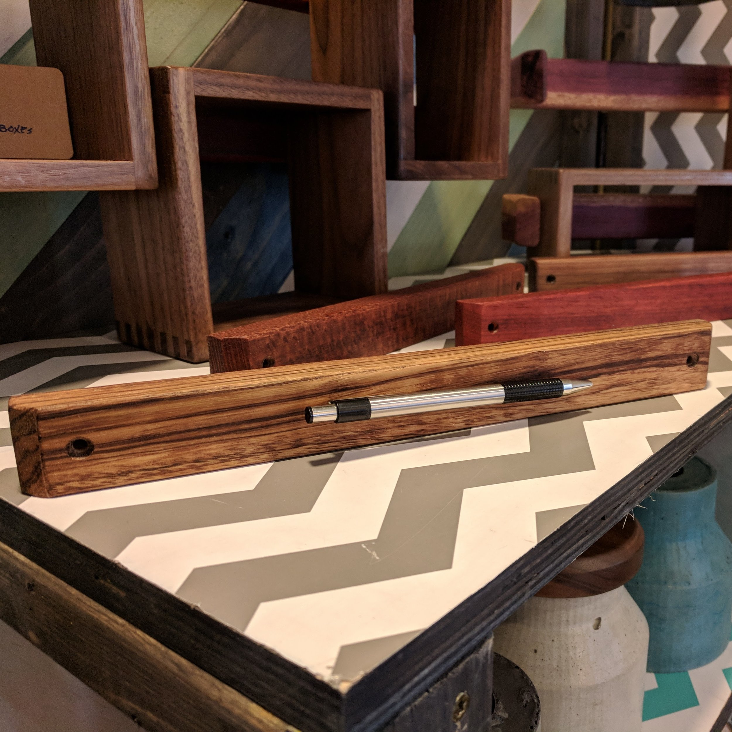 Magnetic Knife Bars - Made from exotic and hardwood cutoffs.