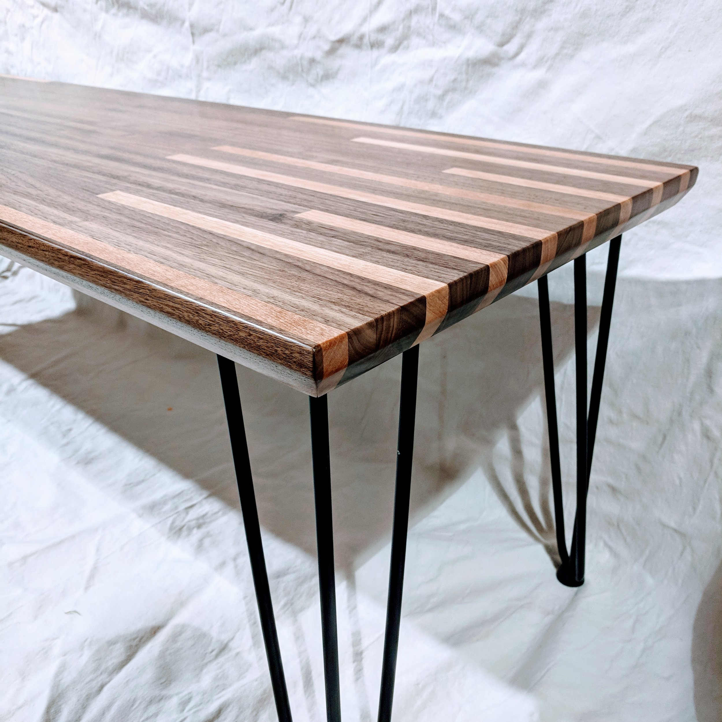 Fine Layered Project - Coffee Tables, Night Stands, Floating box shelves, and benches.