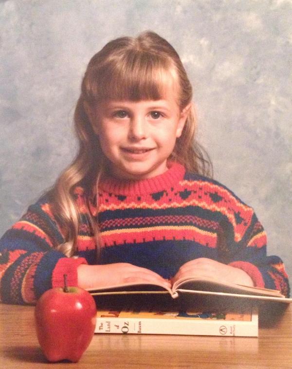 Diana, age 4. Preschool picture day.