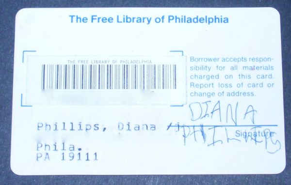 My first library card. Age 3.