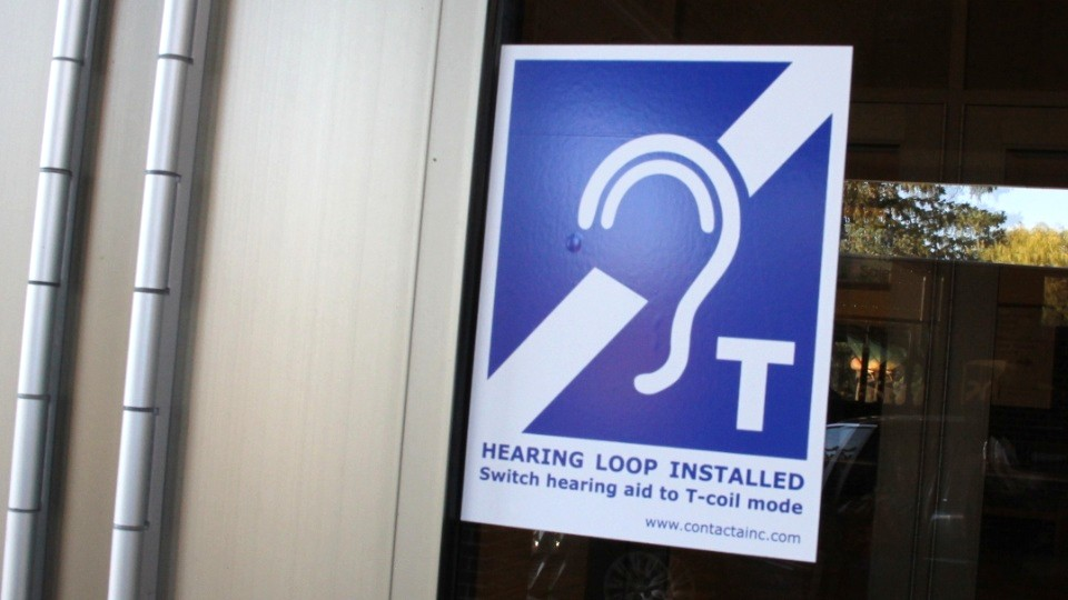 Hearing Loop signage to look for