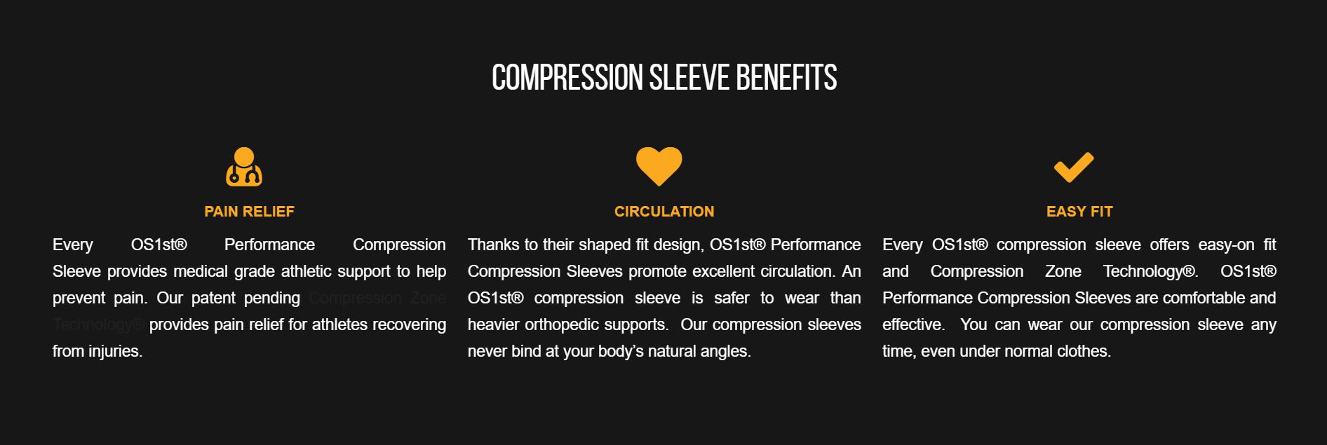 compression sleeve benefits