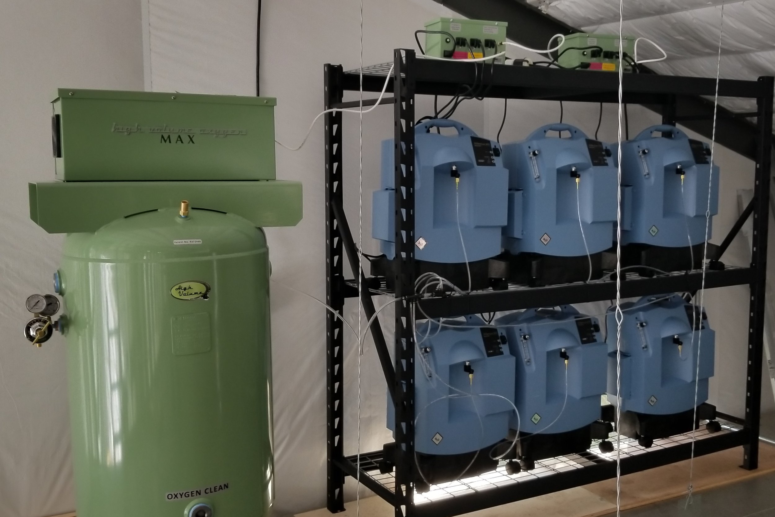 60 Liter per minute system with 80-gallons of storage