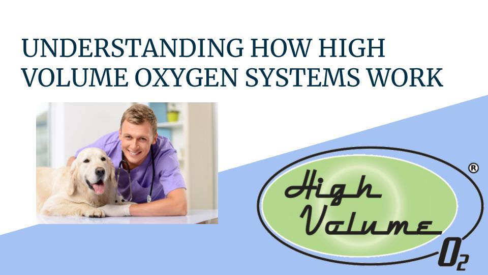 High Volume Oxygen Veterinary
