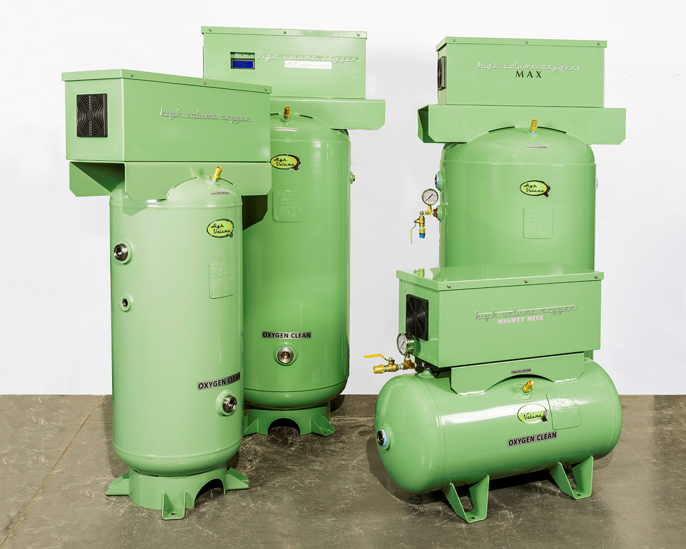 Various tank sizes include 20, 30, 60 and 80 gallon units