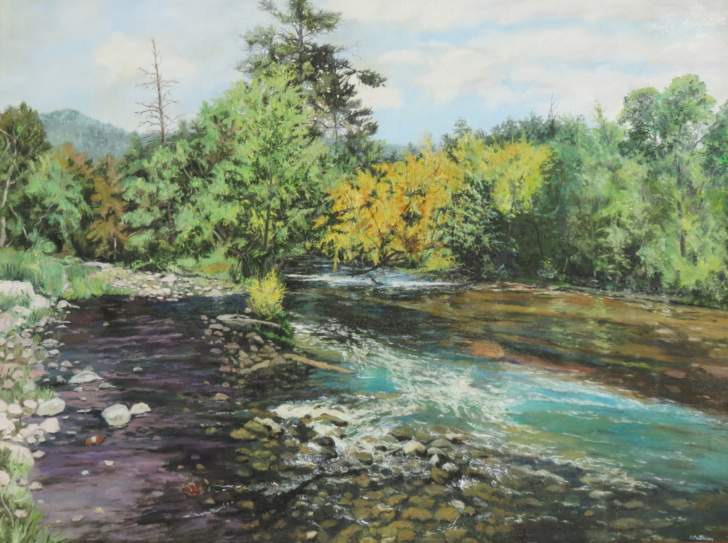 A Braided River, oil on canvas, 30 x 40 inches  Private collection, Bellingham, Washington