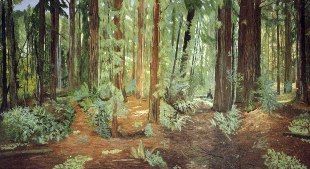 California Redwoods, oil on canvas, 36 x 84 inches  Collection of the U.S. State Department  Location, Edinburgh, Scotland