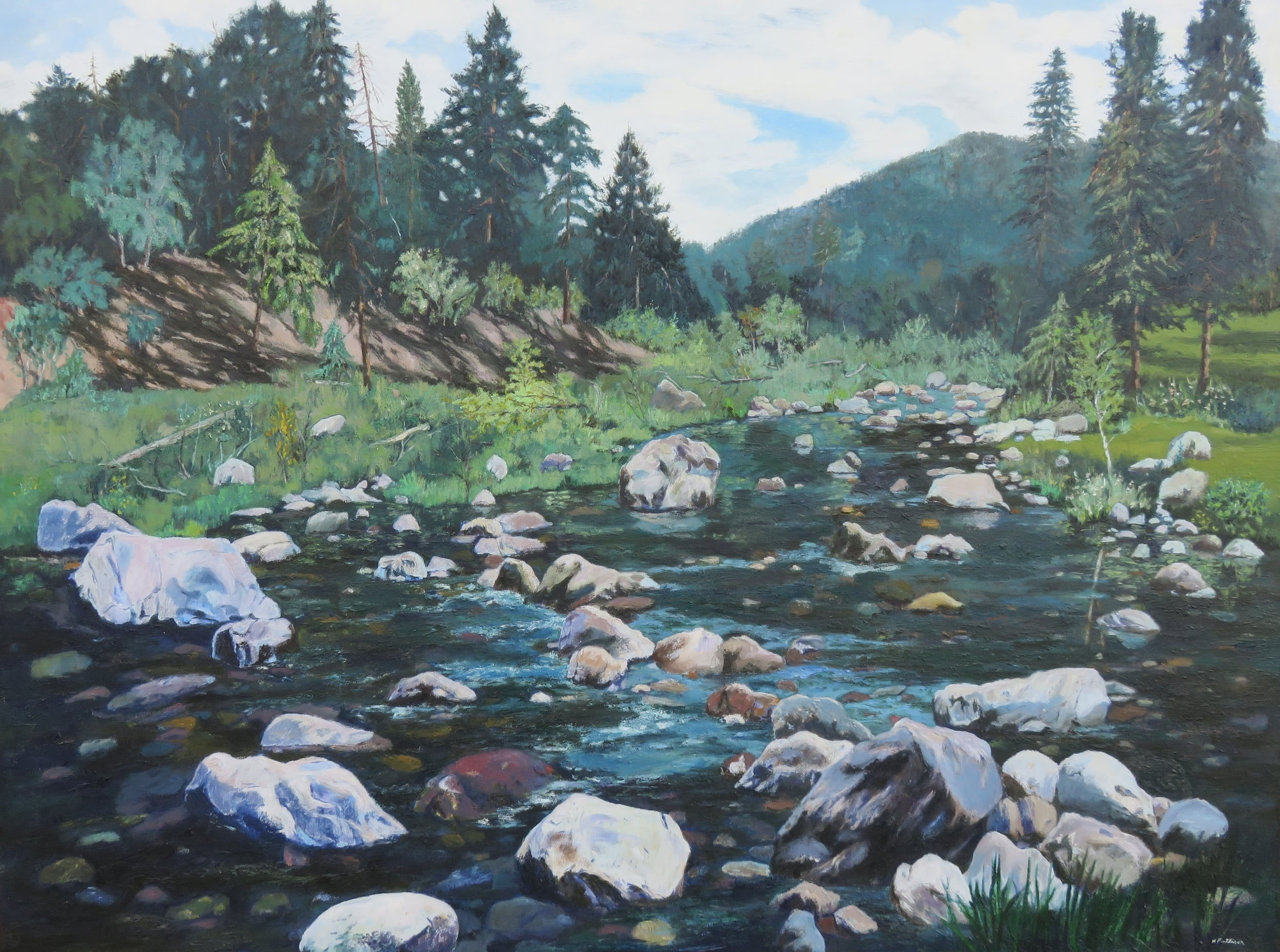 Mountain Trout Stream, oil on canvas, 36 x 48 inches
