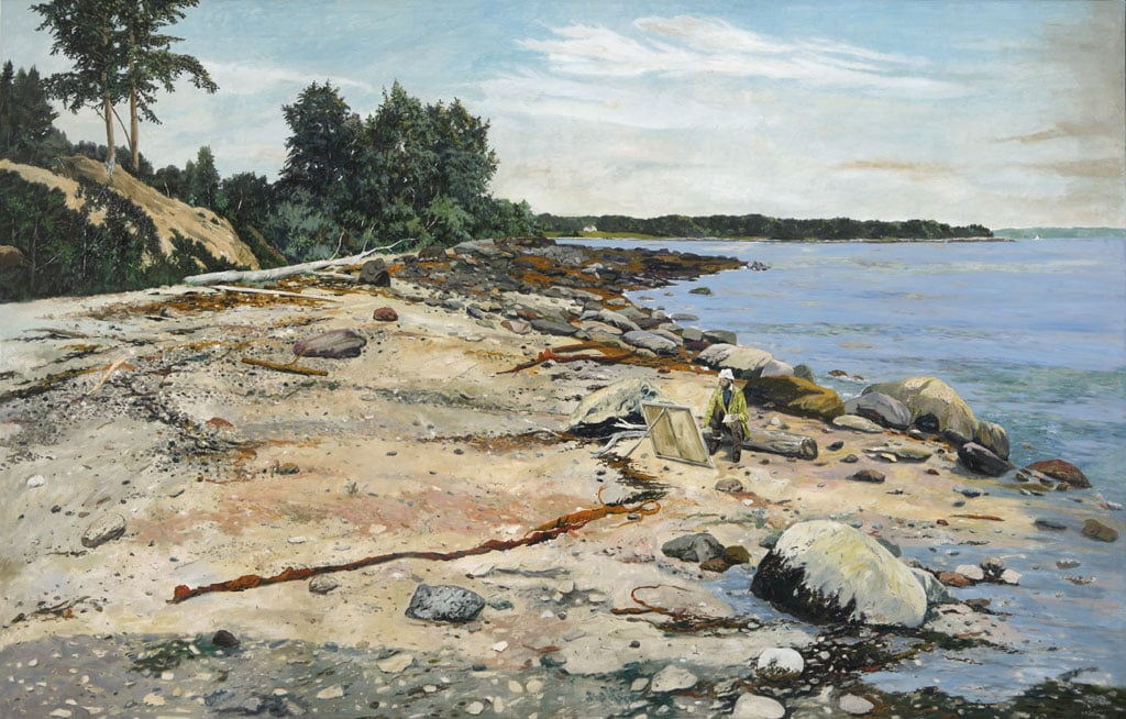 The Maine Shoreline, oil on canvas, 60 x 84 inches