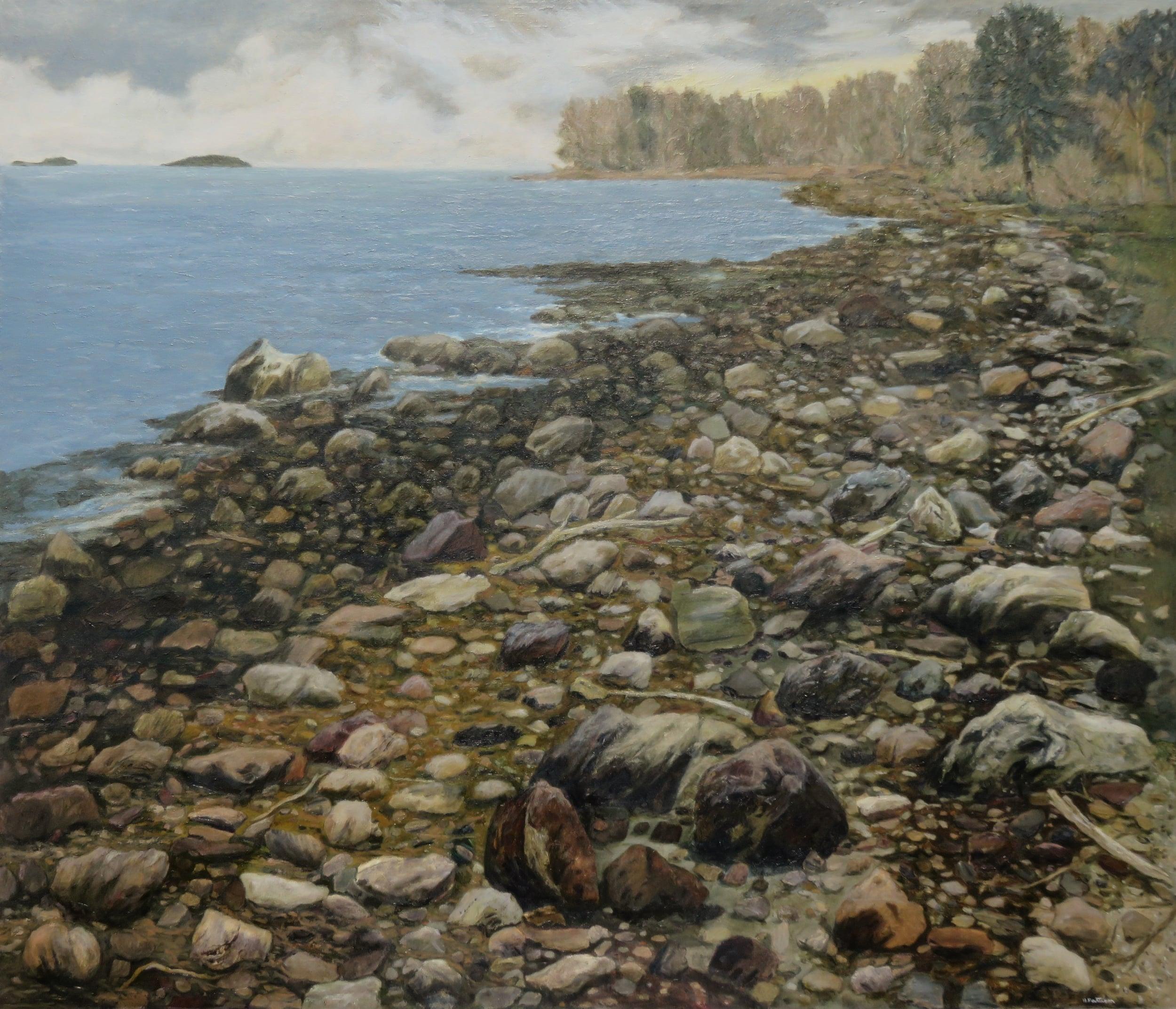The Coastal Shoreline, oil on canvas, 50 x 58 inches