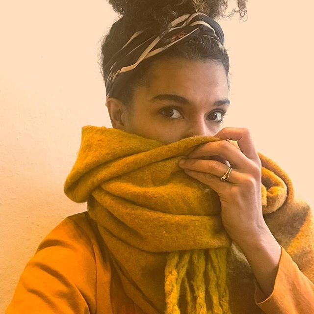 turmeric! dreaming of summer skies this color! new tunes on the way,still need a scarf but it has to be that cadmium-sulfide lewk. 🦊🦁☄️🌻🥃🌅