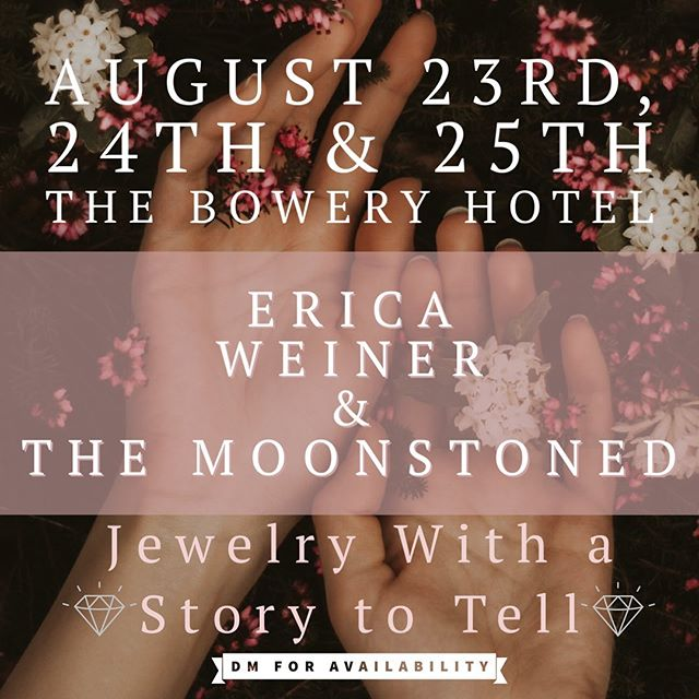 We are so excited to announce our Trunk Show this weekend, Fri-Sun at The Bowery Hotel. Space is limited and will run in 30min appointments; DM me for your spot and what you'd like to focus on! There will be tons of unique and amazing jewelry from myself and @ericaweiner for you to check out plus plenty of laughs, hugs and champagne! ✨ I can't wait to see you there ✨