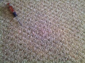 After:  ACS carpet snag repair