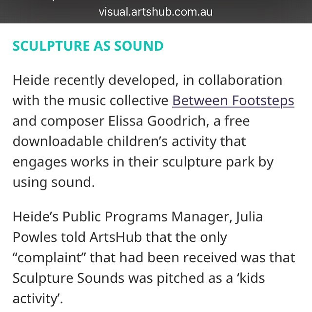 "Check us out in an @_artshub feature ""Making sense of the visitor experience"" with @statesofplayfrommelbourne and @explosurepics #sculpturesounds  #artsounds http://visual.artshub.com.au/news-article/features/museums/gina-fairley/making-%E2%80%9Csense%E2%80%9D-of-the-visitor-experience-251322"