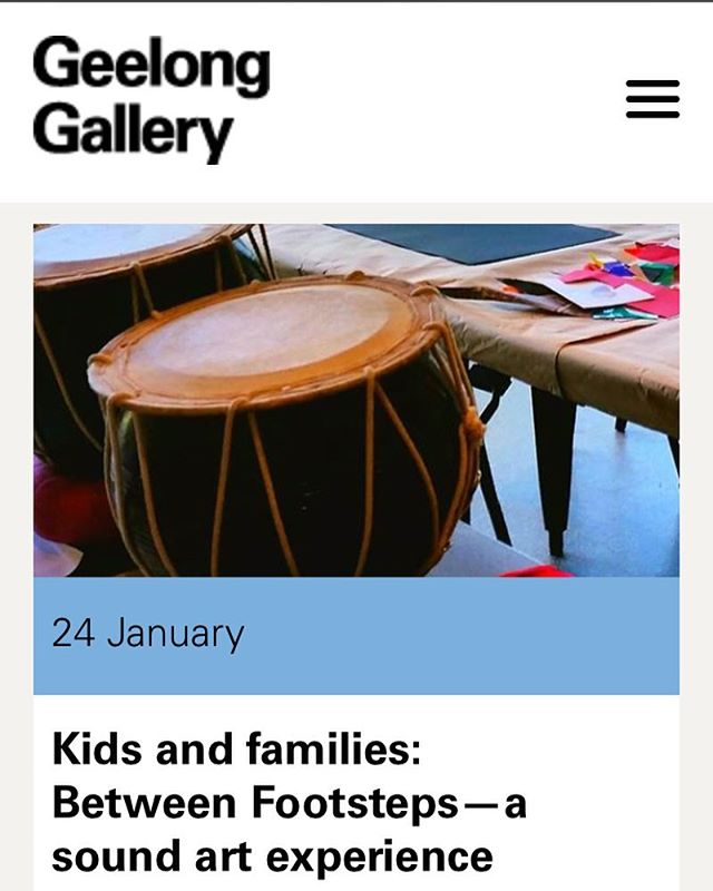 We're running a fantastic storytelling, art making and sound making workshop for primary aged artists @geelonggallery on Tuesday 24 January at 10.30am. It's going to be ace, you should come! Check out  details and book at www.geelonggallery.org.au #schoolholidayfun #geelong #artandmusic #creativekids