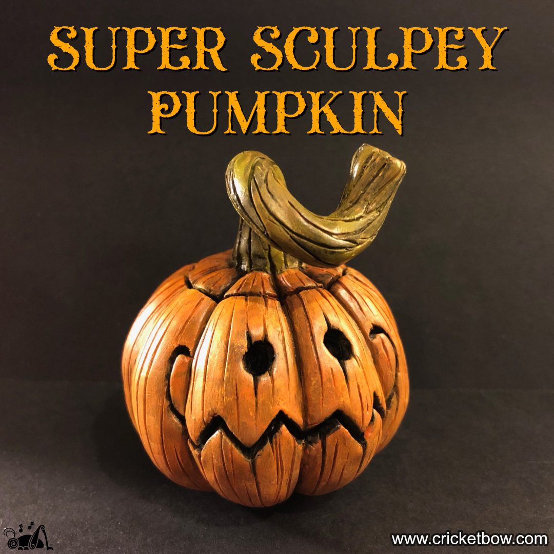 Sculpting a Jack O'Lantern with Sculpey