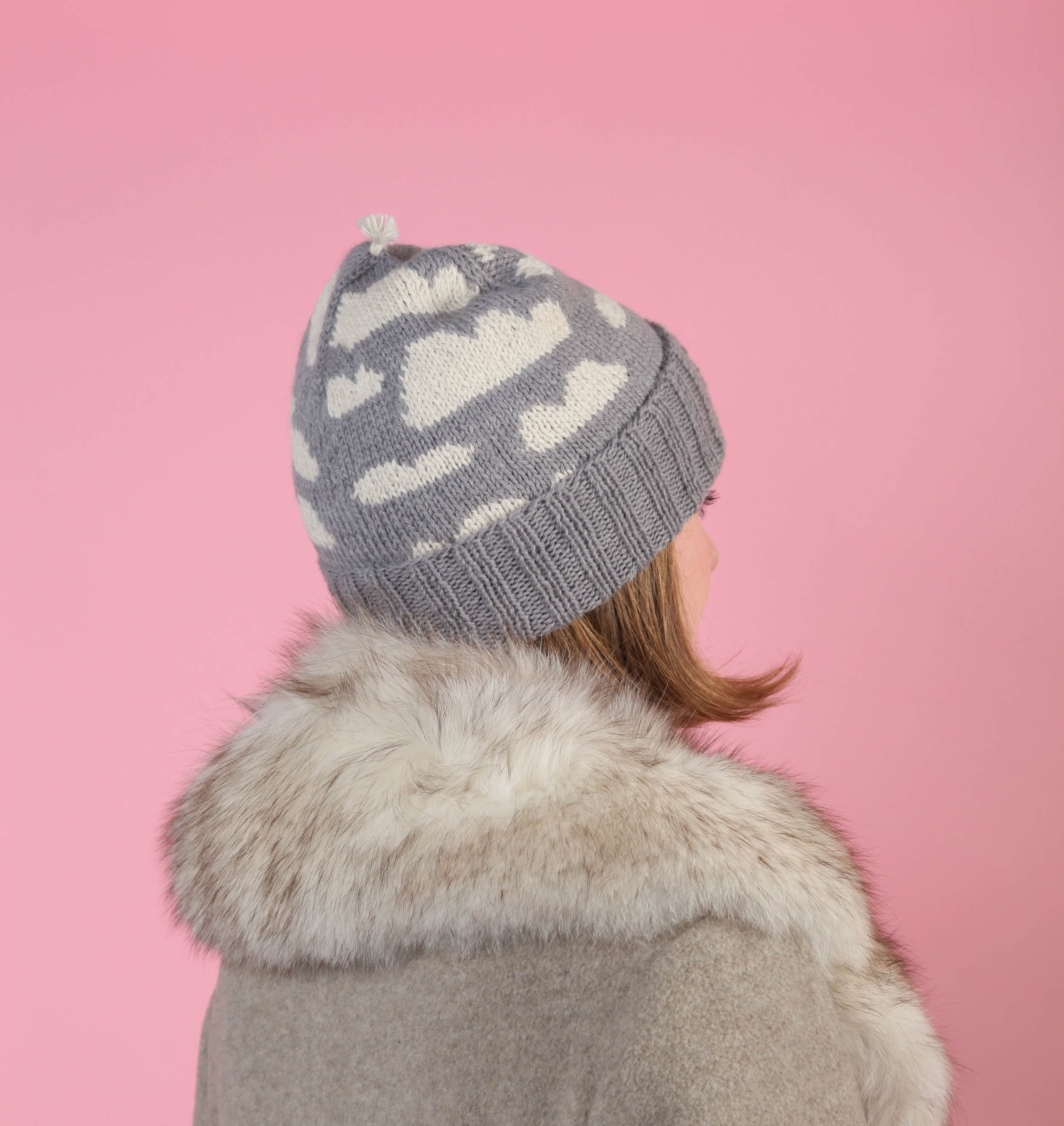 Grey clouds hat