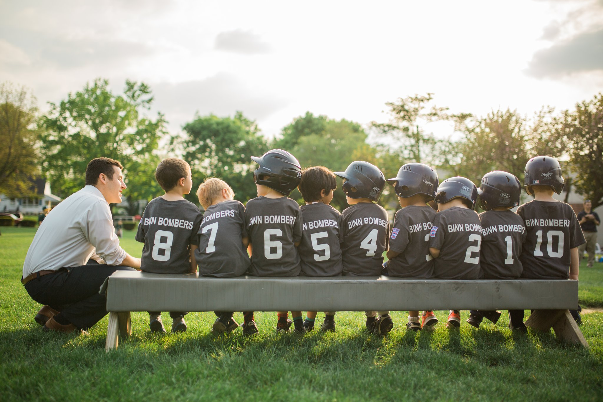 Henry's sweet first T-ball team.