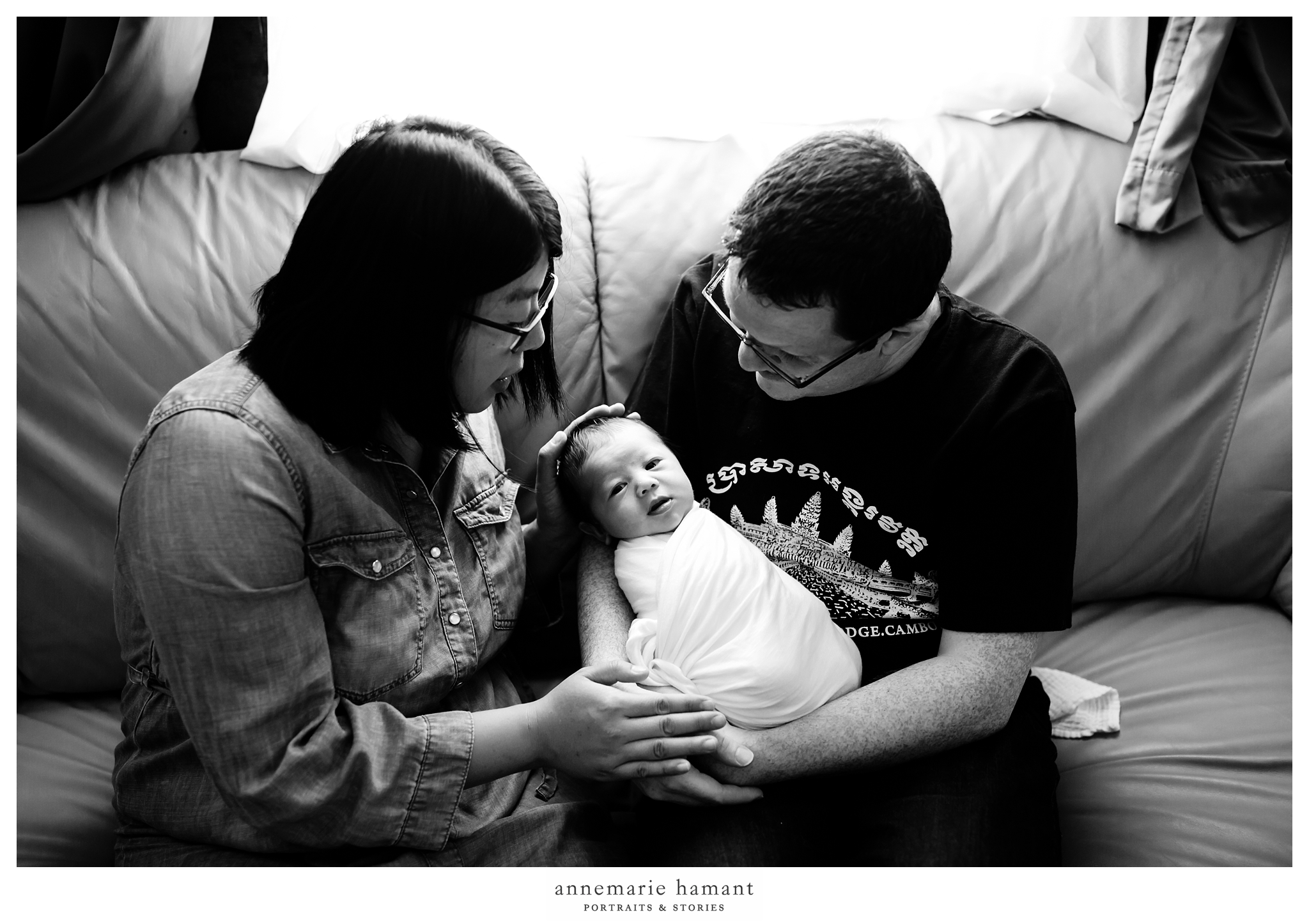 new parents with newborn baby