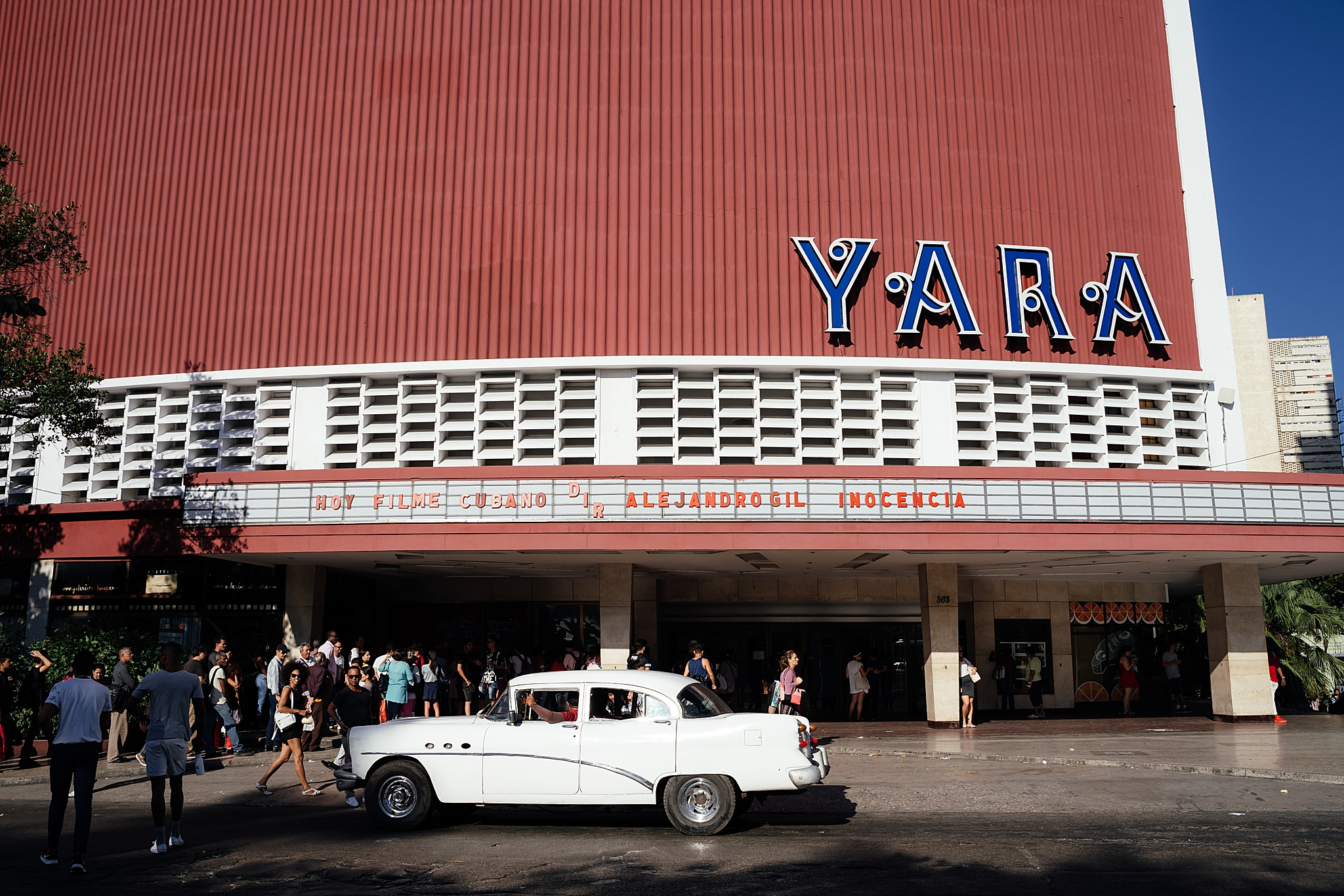 The famous Yara theater in the Vedado neighborhood of Havana Cuba.