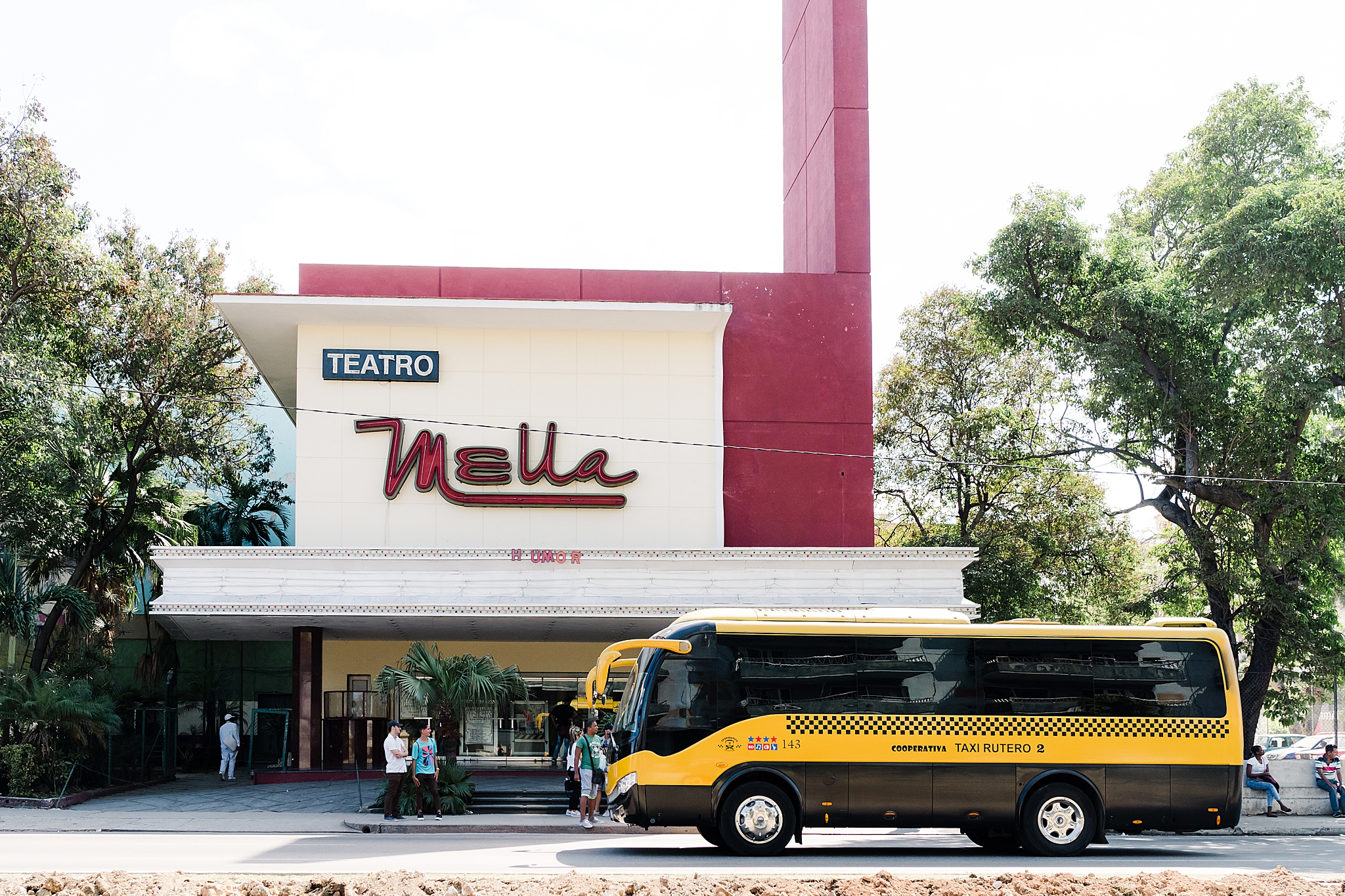 The mid-century Nella theater in Vedado, havana was right around the corner from our Airbnb.