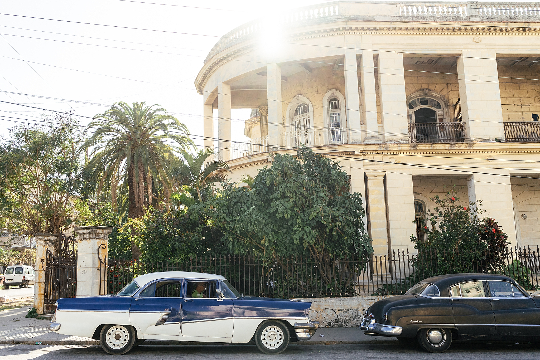 old cars and mansions of Havana Cuba