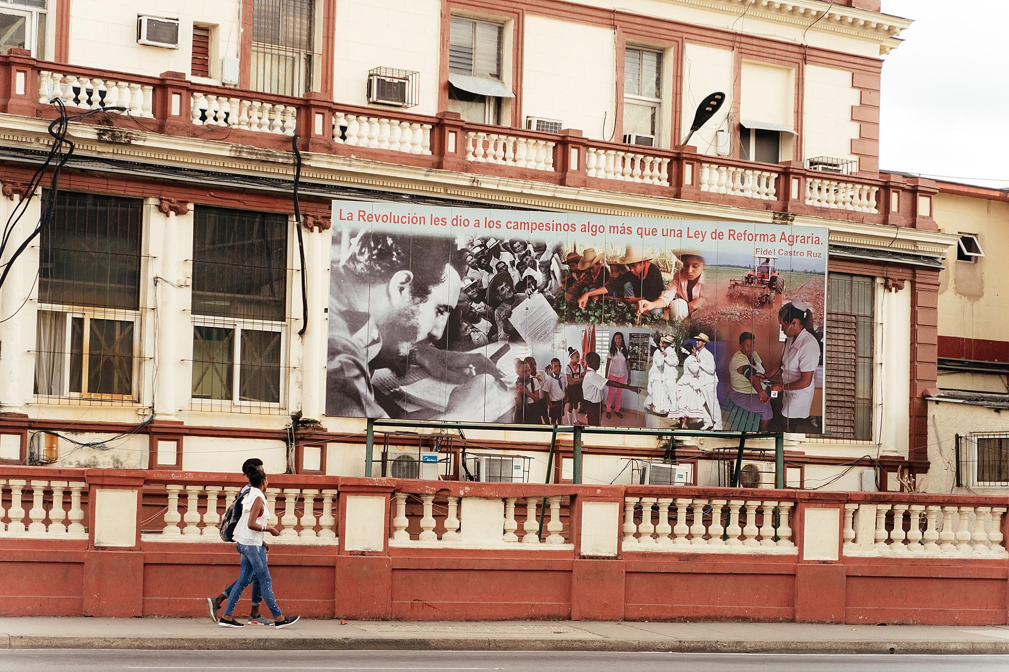 Vintage political propaganda in Havana, Cuba.
