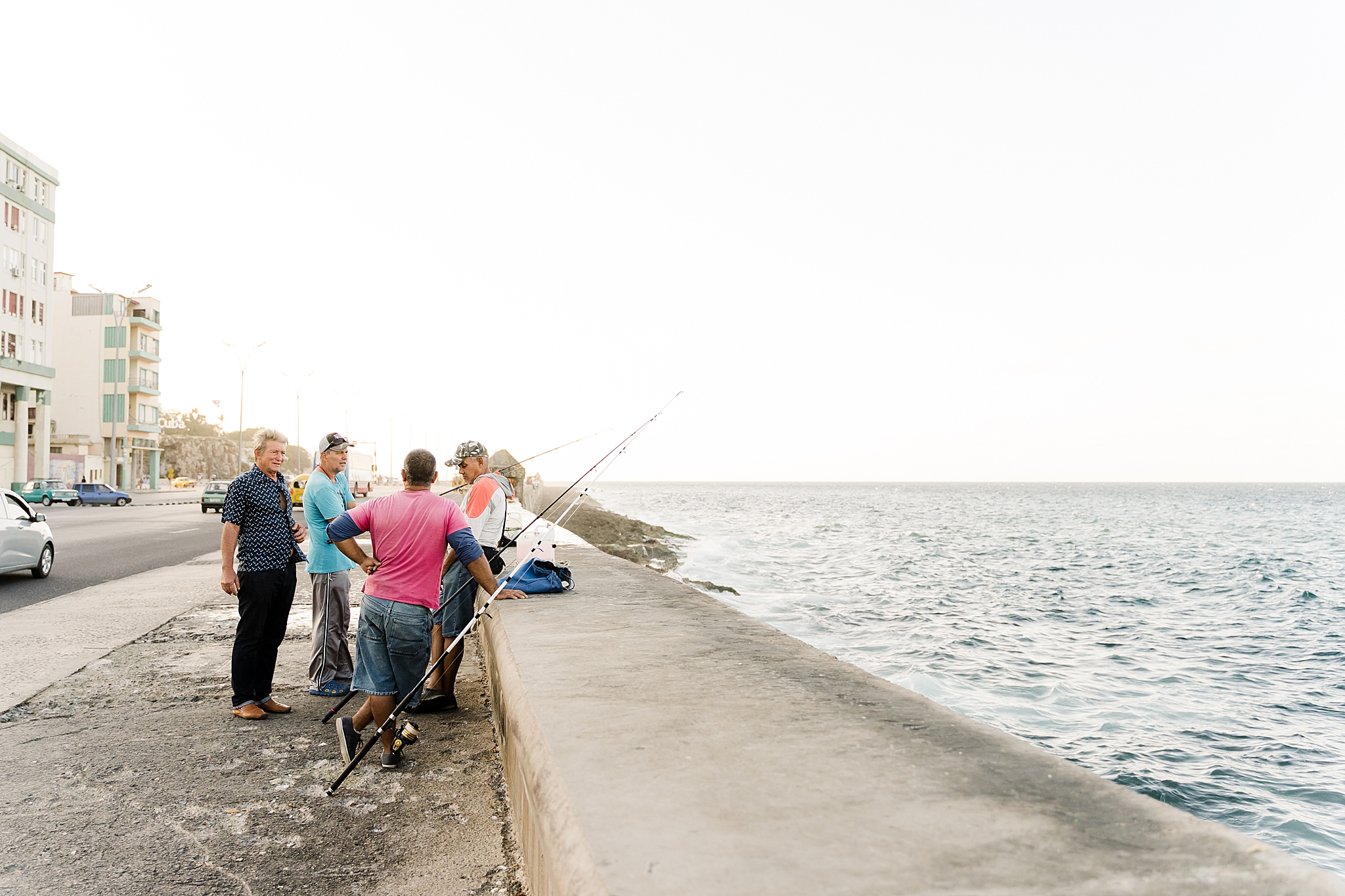 You'll find fisherman at El Malecon, Havana Cuba.
